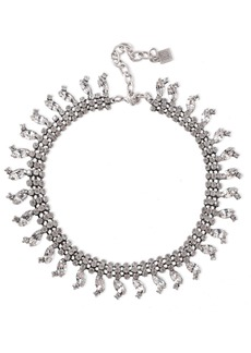 Dannijo Woman Burnished Silver-tone Crystal Necklace Silver