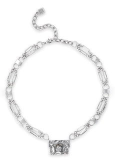 Dannijo Woman Edelweiss Silver-tone Crystal Necklace Silver