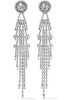 Dannijo Woman Gale Oxidized Silver-plated Crystal Earrings Silver