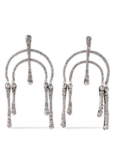 Dannijo Woman Kamil Silver-tone Crystal Earrings Silver