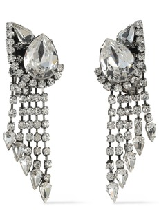 Dannijo Woman Kora Silver-tone Crystal Clip Earrings Silver