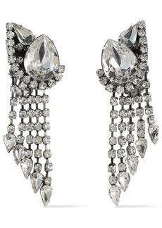 Dannijo Woman Kora Silver-tone Crystal Clip Earrings Silver
