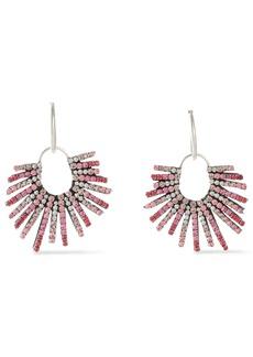 Dannijo Woman Kravis Convertible Oxidized Silver-tone Crystal Earrings Pink