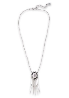 Dannijo Woman Lloyd Oxidized Silver-tone Necklace Silver