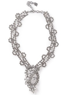 Dannijo Woman Loraine Silver-tone Crystal Necklace Silver