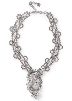 Dannijo Woman Loraine Silver-tone Crystal Necklace Silver