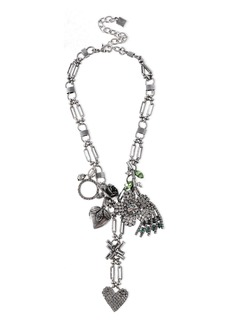Dannijo Woman Marjoram Oxidized Sterling Silver Crystal Necklace Silver