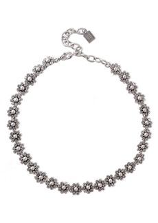 Dannijo Woman Devyn Burnished Silver-tone Crystal Necklace Silver