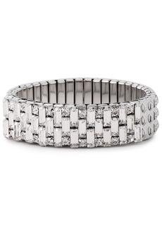 Dannijo Woman Silver-tone Crystal Bracelet Silver