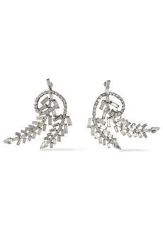 Dannijo Woman Silver-tone Crystal Earrings Silver