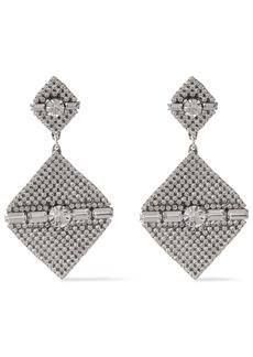 Dannijo Woman Mystique Silver-tone Crystal Earrings Silver
