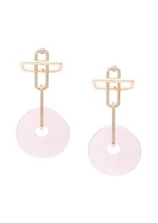 Dannijo Earhardt pink earrings