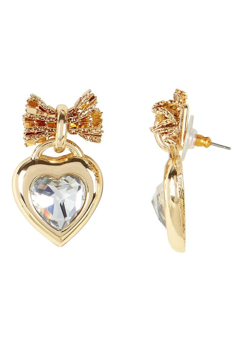 Elora Crystal Heart Earrings