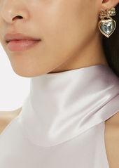 Dannijo Elora Crystal Heart Earrings