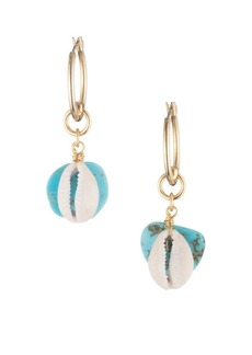 Dannijo Fin Turquoise Drop Earrings