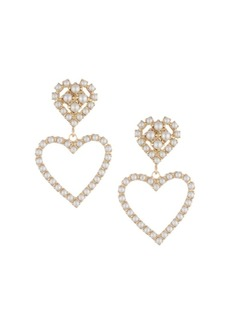 Dannijo Fiona 10K Goldplated & Imitation Pearl Heart Drop Earrings