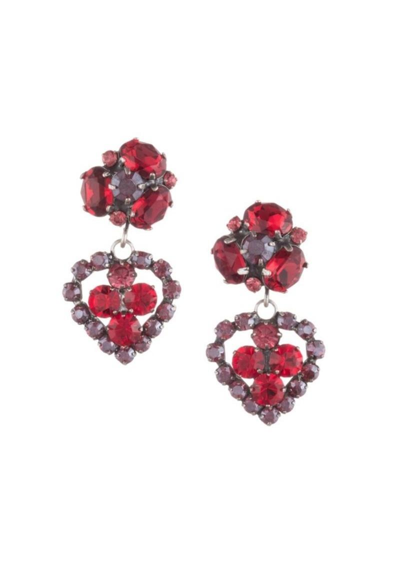 Dannijo Flora Heart Drop Earrings