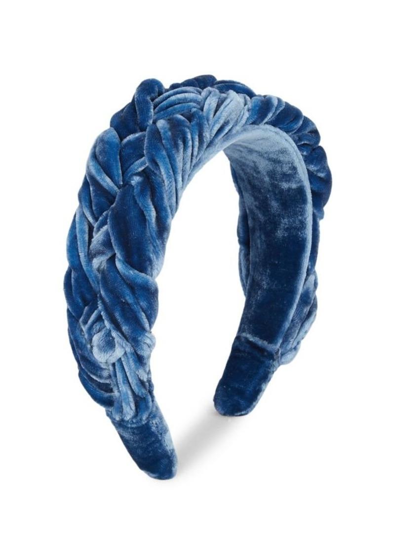 Dannijo Helga Braided Silk Velvet Headband