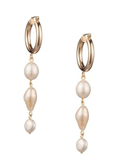 Dannijo Iza Freshwater Pearl Drop Earrings