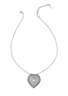 Dannijo Katina Crystal Heart Pendant Necklace