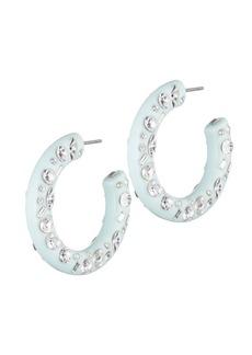 Dannijo Kelly Crystal Tube Hoop Earrings