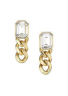 Dannijo Krome 10K Goldplated & Crystal Drop Earrings
