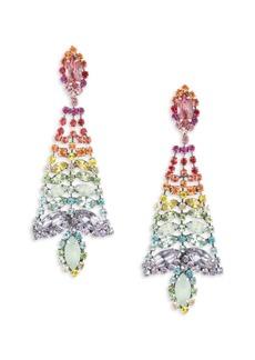 Dannijo Lala Multicolor Swarovski Crystal Drop Earrings
