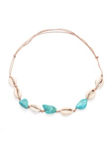 Dannijo Loka Shell & Raffia Corded Necklace