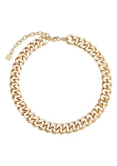 Dannijo Lombard 10K Gold-Plated Curb-Chain Collar Necklace