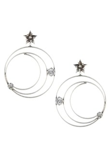 Dannijo Lucky Star & Moon Hoop Earrings