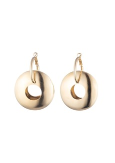 Dannijo Lunar Wide Hoop-Drop Earrings