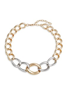 Dannijo Mullholand Two-Tone Curb-Chain Necklace