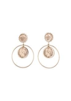 Dannijo Nia Coin Hoop Drop Earrings