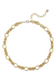 Dannijo Noir Interlocking Chain Necklace