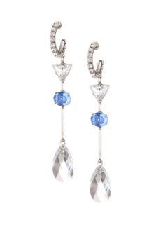 Dannijo Ola Glass Crystal Dangle Drop Earrings