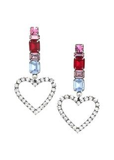 Dannijo Ruby Heart Drop Earrings