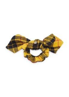 Dannijo Stella Plaid Wool Bow Scrunchie