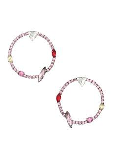 Dannijo Theda Front Hoop Earrings