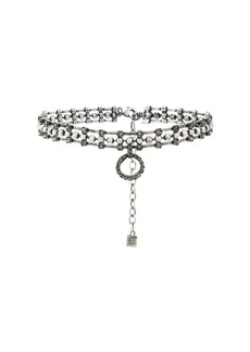 Dannijo Vixie Choker With Crystal Circle Pendant