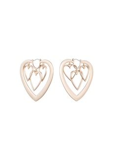 Dannijo Yvette Heart Hoop Earrings