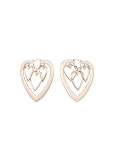 Dannijo Yvette Heart Hoop Earrings