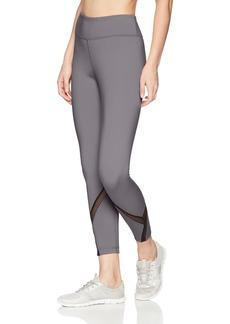 Danskin Women's 7/8 Mesh Detail Mid-Rise Legging