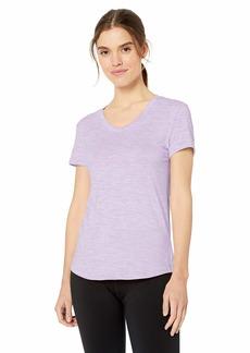 Danskin Women's Active Essential V Neck Short Sleeve Tee