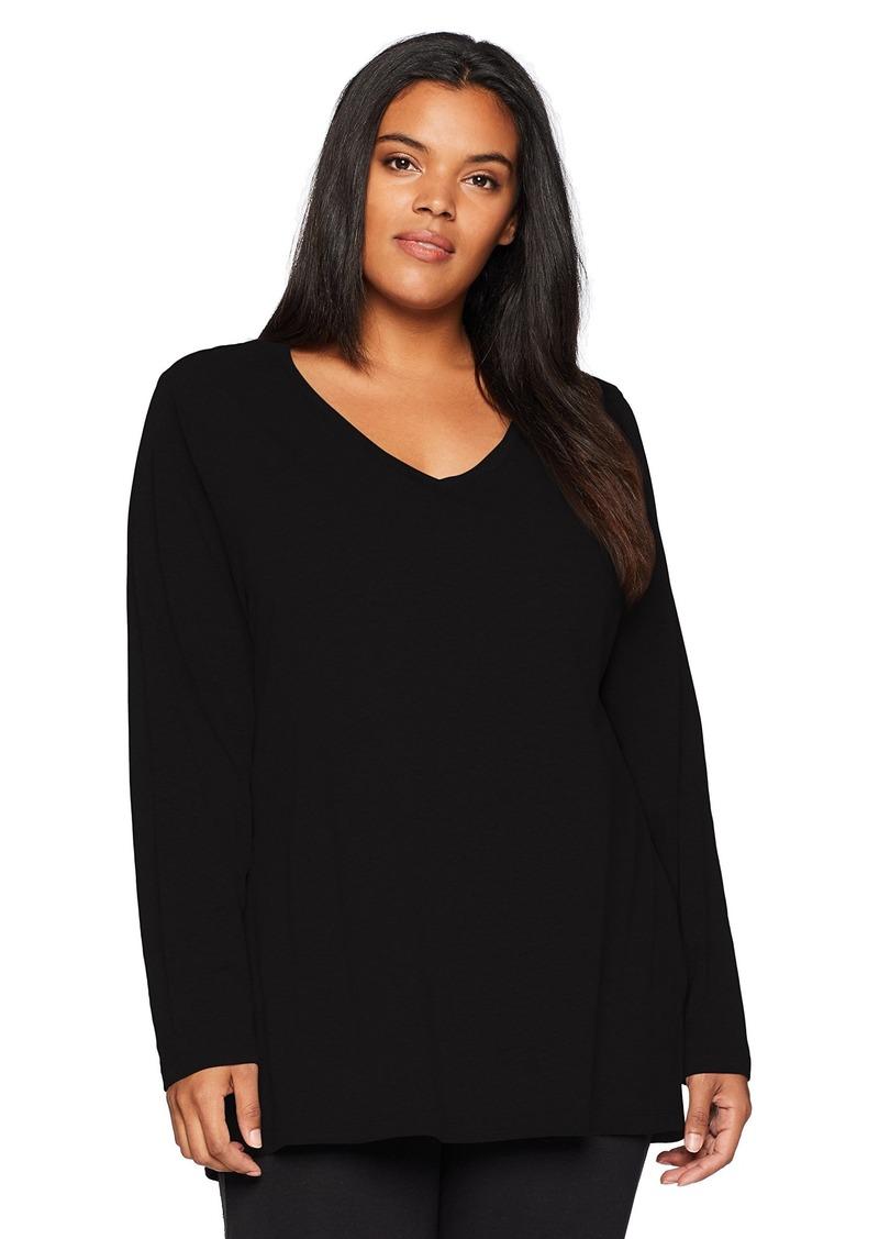 Danskin Women's Essential Long-Sleeve T-Shirt  XL