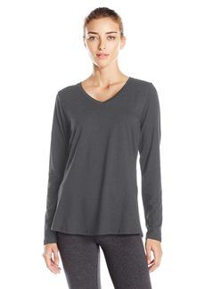 Danskin Women's Essential Long-Sleeve T-Shirt  L