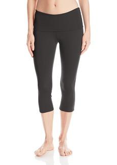 Danskin Women's Sizefold-Over Capri Legging