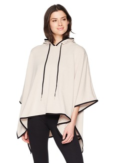Danskin Women's High-Low Hooded Poncho