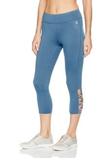 Danskin Women's Lattice Capri Legging  XS
