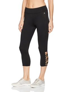 Danskin Women's Lattice Capri Legging  XS