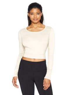 Danskin Women's Long Sleeve Crop Top with Cutout